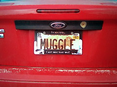 Muggle License Plate