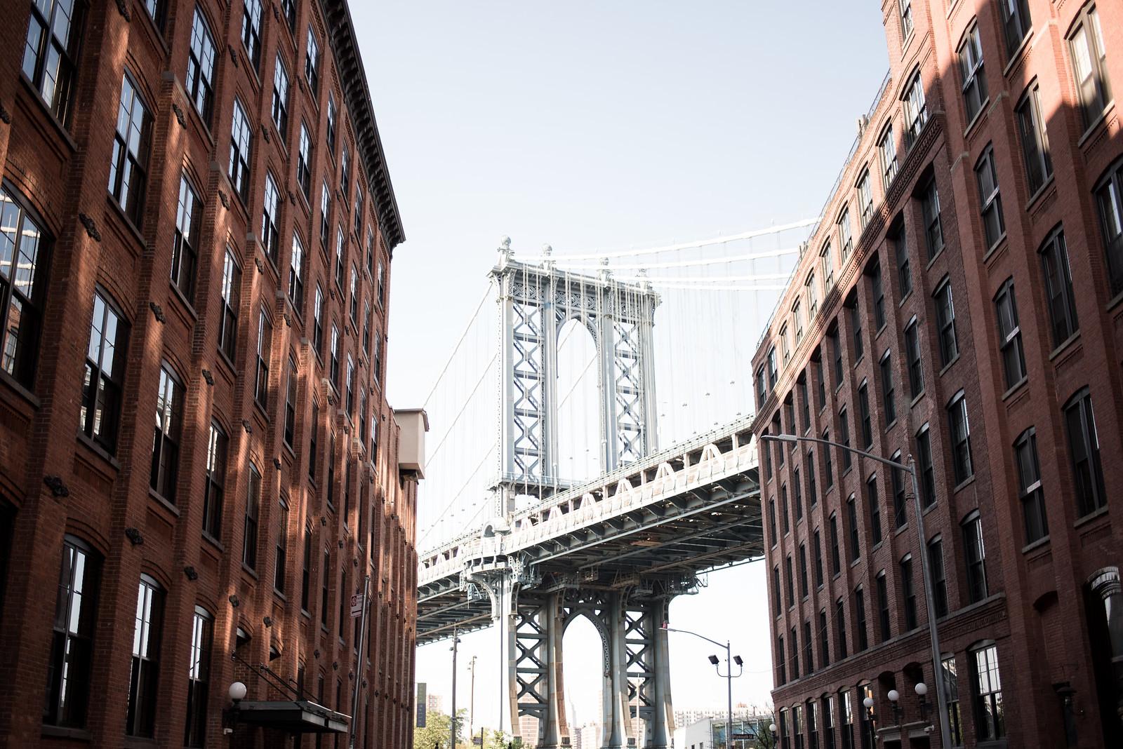 Under the Manhattan Bridge in Brooklyn on juliettelaura.blogspot.com