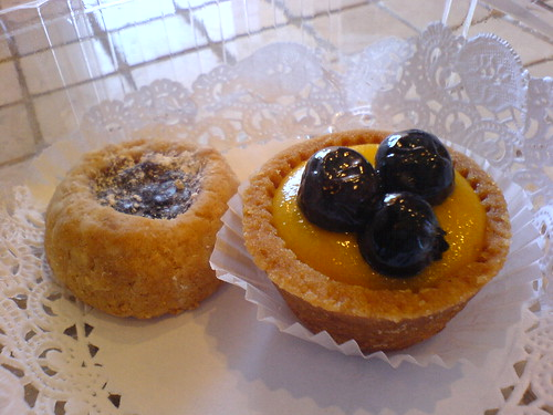 Hazelnut Linzer and Passionfruit Tartlet | by clotilde
