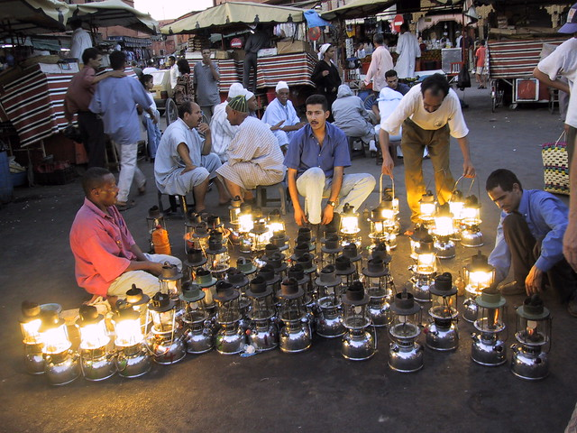 Marakesh market in the main square, Morocco