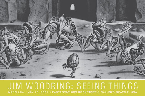 Jim Woodring: Seeing Things exhibit opens 03/24/07 at the Fantagraphics Bookstore | by fantagraphics