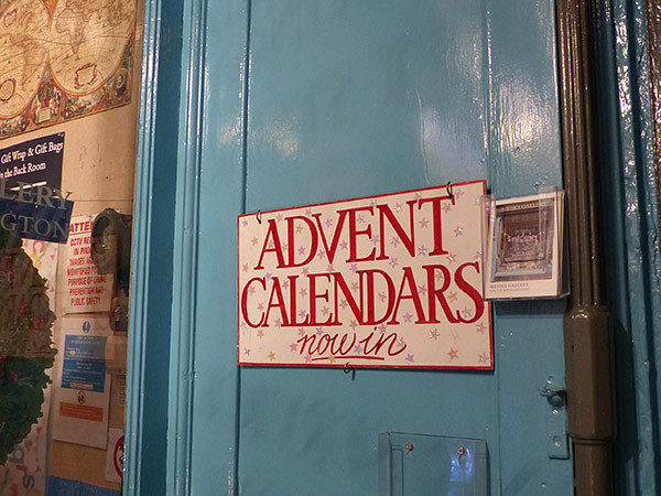 advents calendars now in