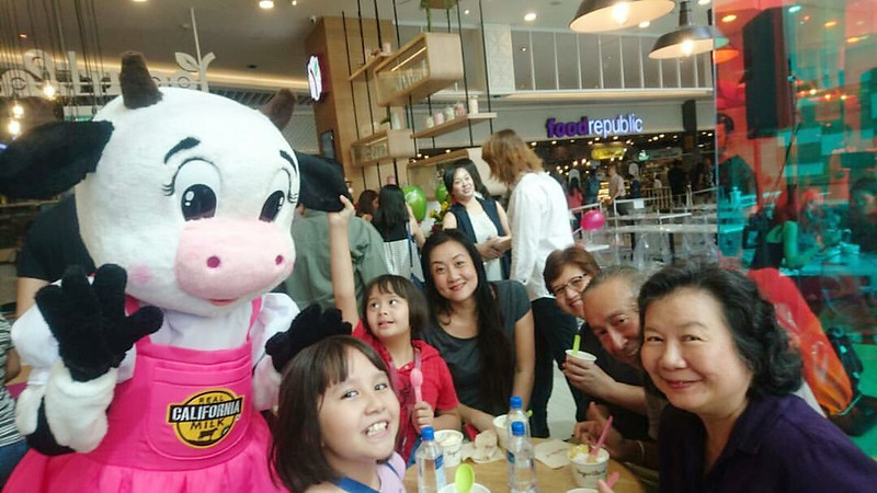 Photo by May Yim Schooling. At the launch of Yogurtland Singapore.