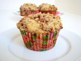 SMS Pear Cranberry Muffins w/Gingersnap Crumble | by Tracey's Culinary Adventures