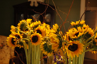 Sunflower Centerpieces - closeup | by The Gypsy Wagon