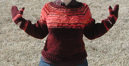 Spin to Knit Faux Fair Isle Sweater | by QueenieVonSugarpants
