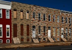 Baltimore Row Houses | by Bob Jagendorf