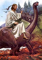 Jesus riding dinosaur | by rockinhejabi