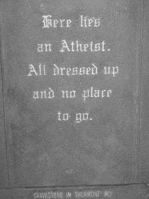 Atheist Headstone | by GINDERBELL