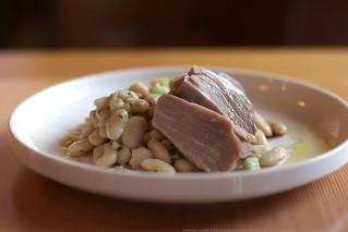 white bean salad with cured tuna | by Lara Ferroni