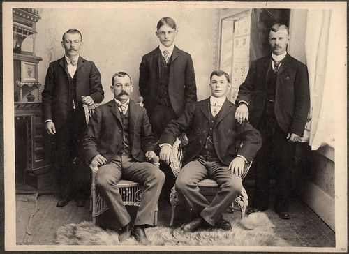 vintage portrait of edwardian men, napa california | by David Flam
