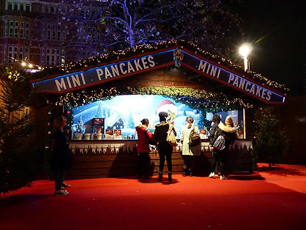 mini pancakes à Leicester square