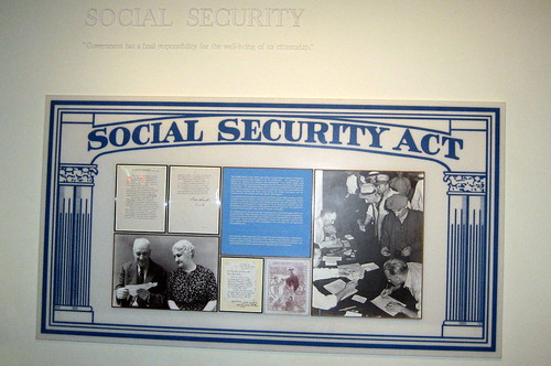 NY - Hyde Park: Franklin D. Roosevelt Presidential Library - Social Security Act | by wallyg