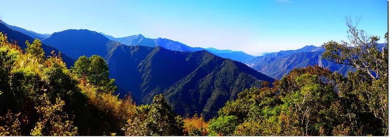 馬馬宇頓稜線南眺