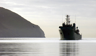 Godley Head and HMNZS Resolution, Lyttelton Harbour, Canterbury, New Zealand, 18 August 2005 | by PhillipC