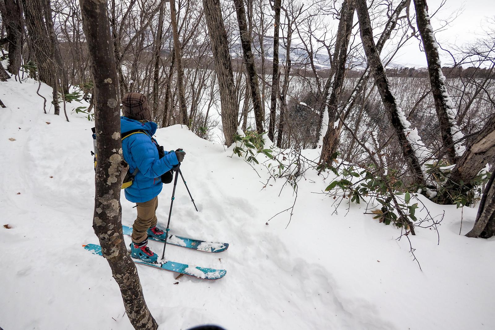Hangetsu Lake ski touring (Hokkaido, Japan)