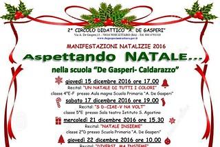Noicattaro. Eventi Natale De Gasperi front
