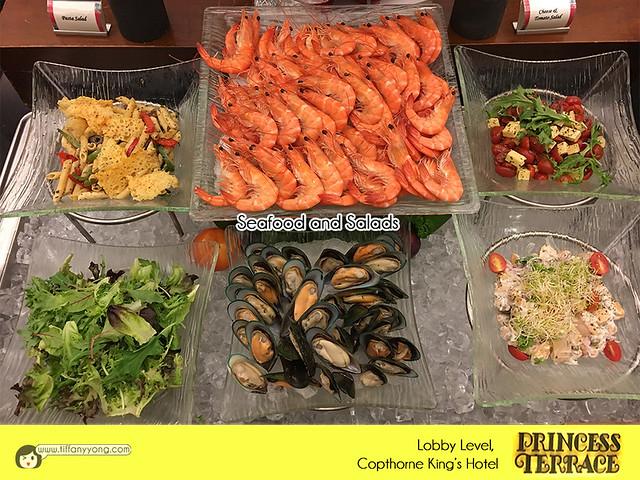 Copthorne Kings Princess Terrace Christmas Seafood and Salads