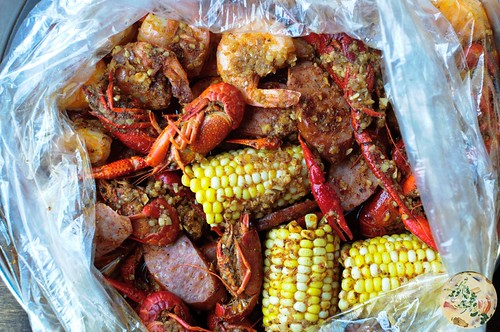 Crawfish, Shrimp, Corn, Andouille Sausage