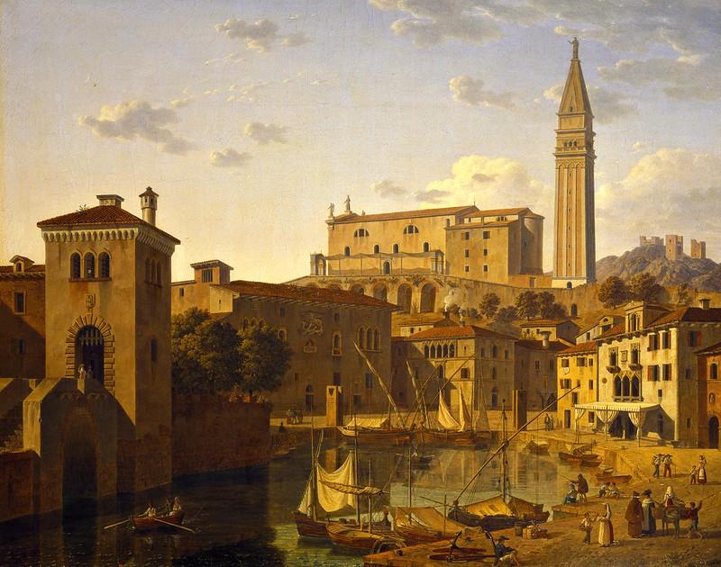Leo von Klenze - The harbour at Pirano, Istria, (1831)