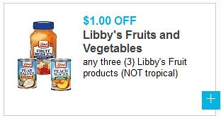 Libby's Fruits & Vegetables Coupon