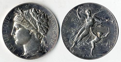 1878 Universal International Exposition medal