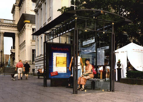 Helios bus shelter in Berlin