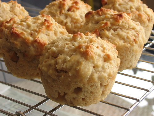 Buttermilk-Barley Muffins with cashews and sesame seeds