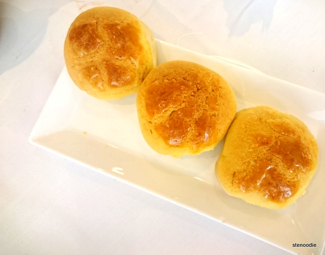 Baked pineapple buns with barbecued pork
