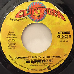 THE IMPRESSIONS:SOMETHING'S MIGHTY,MIGHTY WRONG(LABEL SIDE-B)