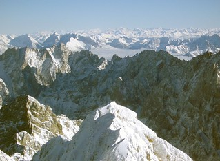 view form the zugspitze, Germany South, border to Austria | by fotofix