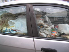 Brand New Car Filled with Trash | by uncleboatshoes