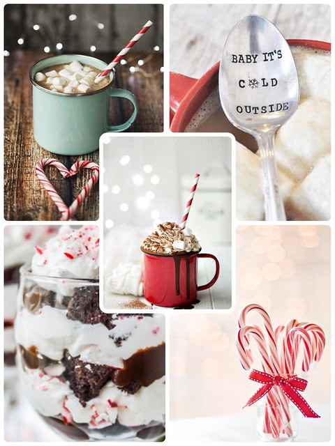 pinterest, inspiration, baby its cold outside, hot chocolate, kuuma kaakao, joulu, christmas, marshmallows, vaahtokarkit, candy cane, piparminttu, tikkukaramellit, karkkitangot,