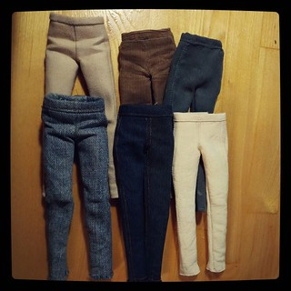 Practice maketh perfect - discovered sudden calming effect of sewing doll pants and jeans, for #365days project, 343/365.
