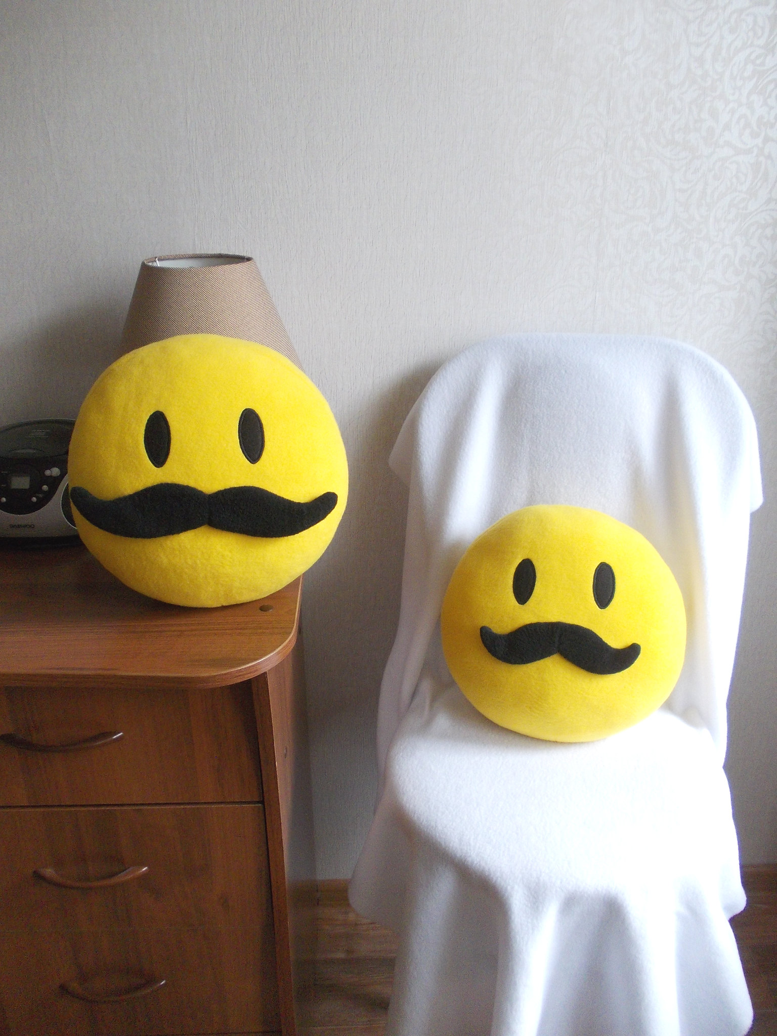 Mustache, mustache pillow, mustache smiley face, mustache smiley 13