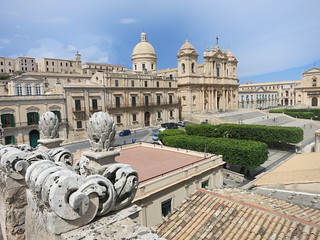 Cathedral of Noto from Chiesa San Carlo roof, Noto