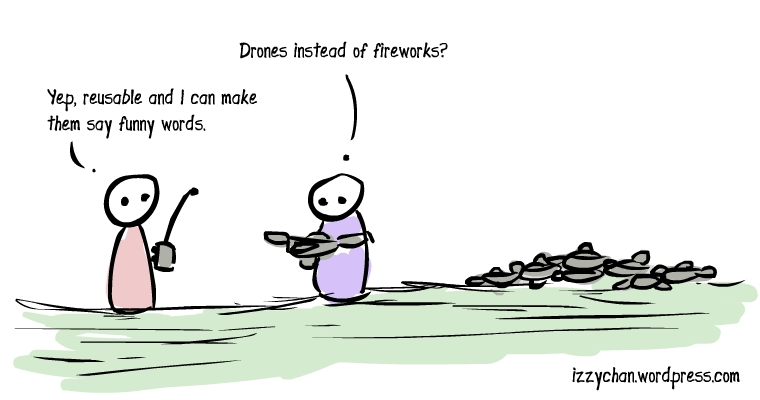 drones instead of fireworks
