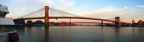 [Panorama] Brooklyn, Manhattan and Williamsburg Bridges | by Diego3336