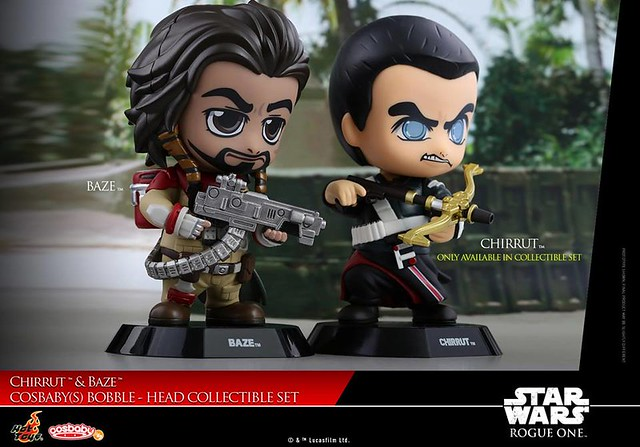Chirrut & Baze Cosbaby Bobble-Head Set by Hot Toys