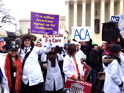 King vs Burwell - Rally in support of Obamacare - US Supreme Court