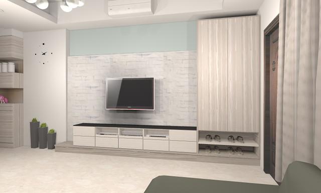 3D室內繪圖設計作品-綠生活-鄭公館