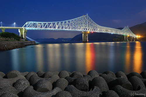 Ikitsuki Bridge at Night