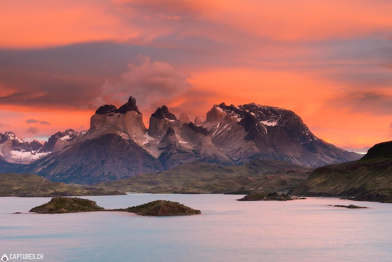 Dawn at the Los Cuernos - Torres del Paine