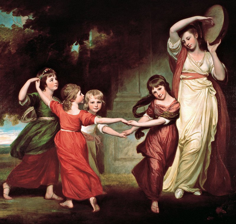 George Romney - The Gower Family The Children of Granville, 2nd Earl Gower (c.1776)