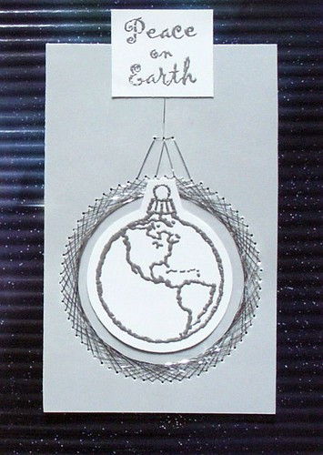 Stitching on Paper - Peace on Earth Card