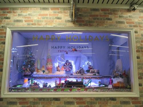 Happy Holidays from the TTC #toronto #ttc #yongeandbloor #blooryonge #holidays #toytrain