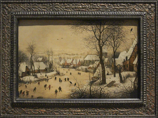 Winter Landscape with Skaters and Bird Trap, Pieter Brueghel I