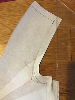 pattern drafting shirt Sewing darts armhole