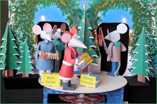 Christmas mice 5x