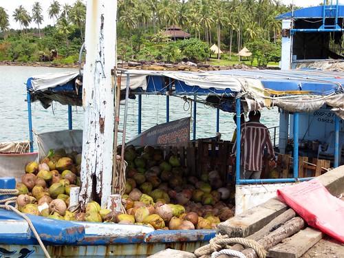 Coconut boat on Koh Kood